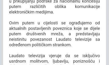 Demanti LAUDATO TV…